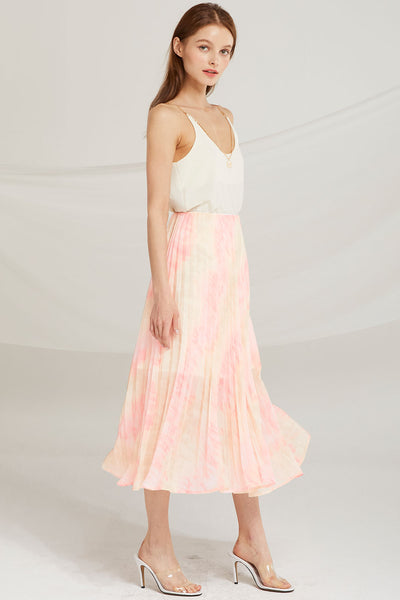 Davina Tie Dye Pleated Skirt by STORETS