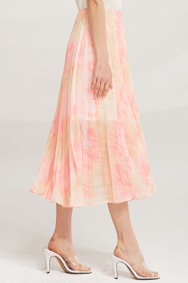 Davina Tie Dye Pleated Skirt