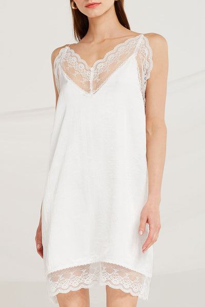 Sariah Lace Trim Slip Dress by STORETS