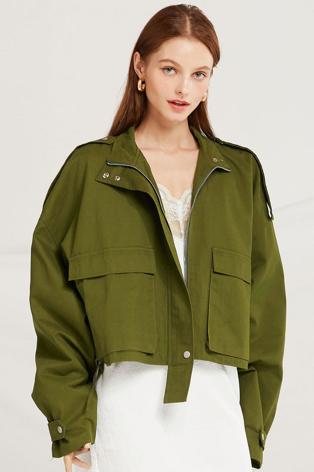 Jaelynn Cropped Utility Jacket by STORETS