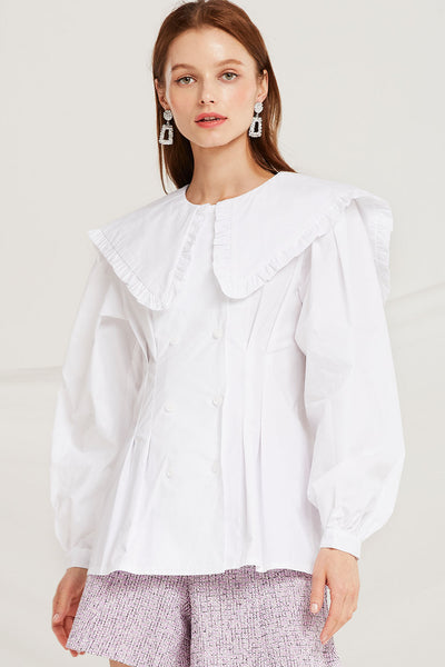 Mavis Frilled Bertha Collar Blouse by STORETS