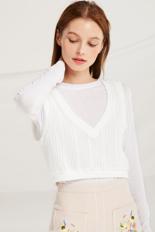 Aubriella Knitted Crop Top by STORETS