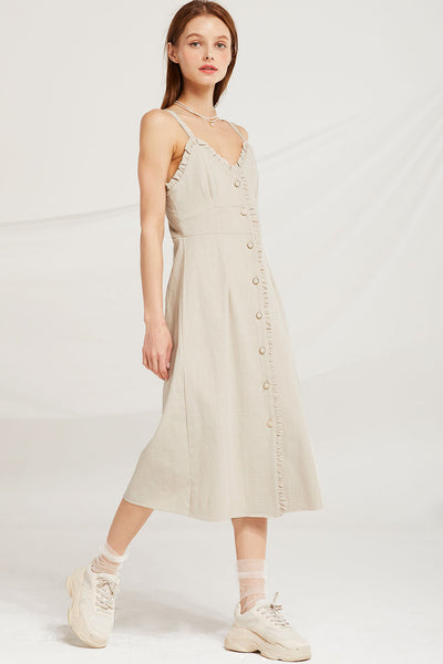 Milan Frill Trim Sleeveless Dress by STORETS