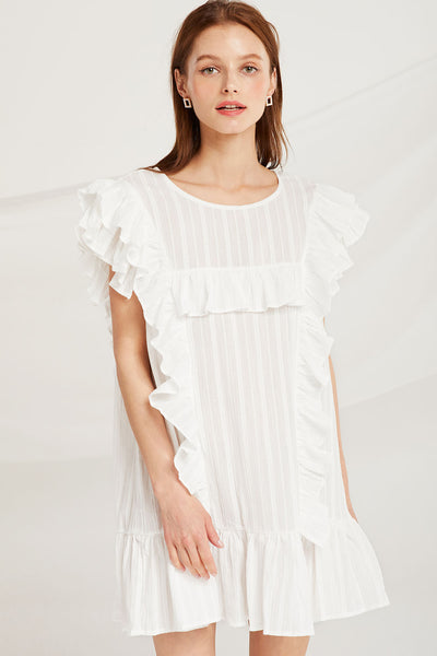 storets.com Everlee Ruffle Sleeveless Dress