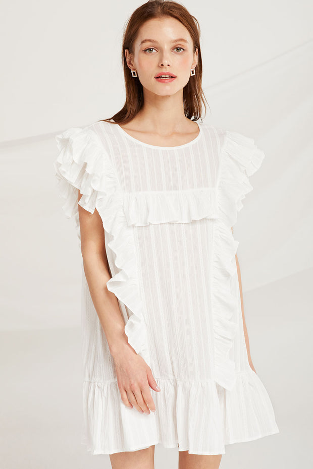 Everlee Ruffle Sleeveless Dress by STORETS