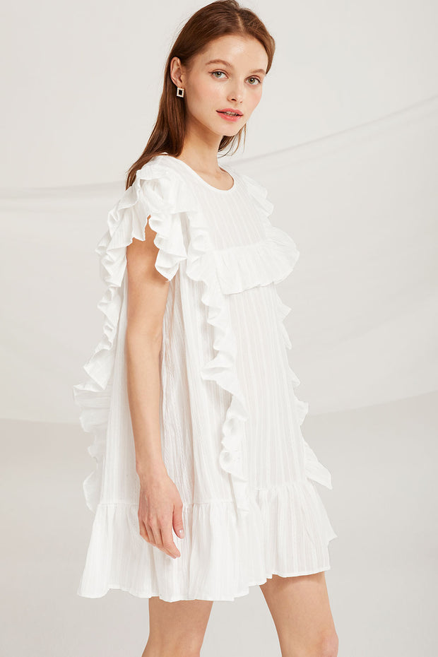 Everlee Ruffle Sleeveless Dress