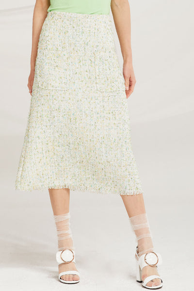 storets.com Zaria Tweed Midi Skirt