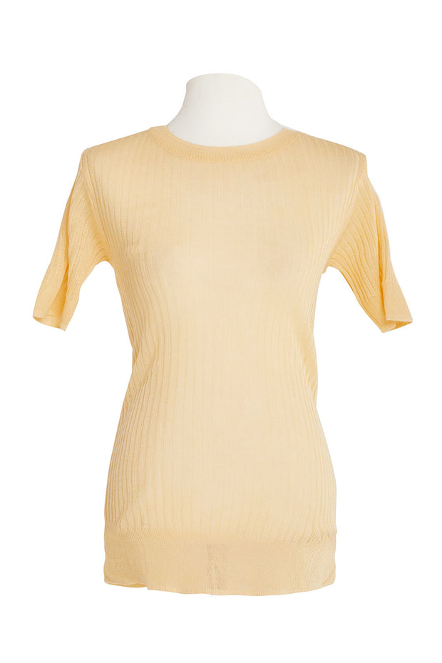 Aya Sheer Rib Knit Top