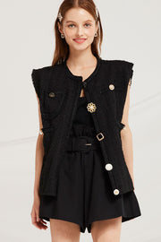 Penny Jewel Button Vest by STORETS