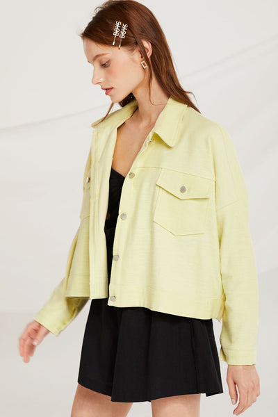 Dulce Cropped Pocket Jacket by STORETS