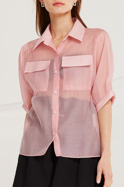 Kai Organza Shirt w/ Pocket by STORETS