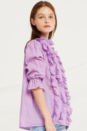 Tori Frilled Pintuck Blouse