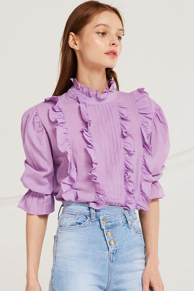 Tori Frilled Pin Tuck Blouse by STORETS