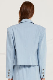 Hailee Linen Crop Jacket