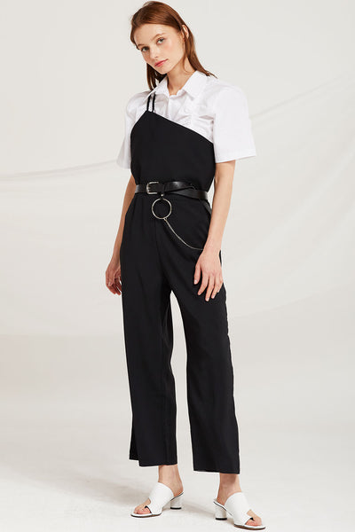 storets.com Lyra Asymmetric Shoulder Jumpsuit