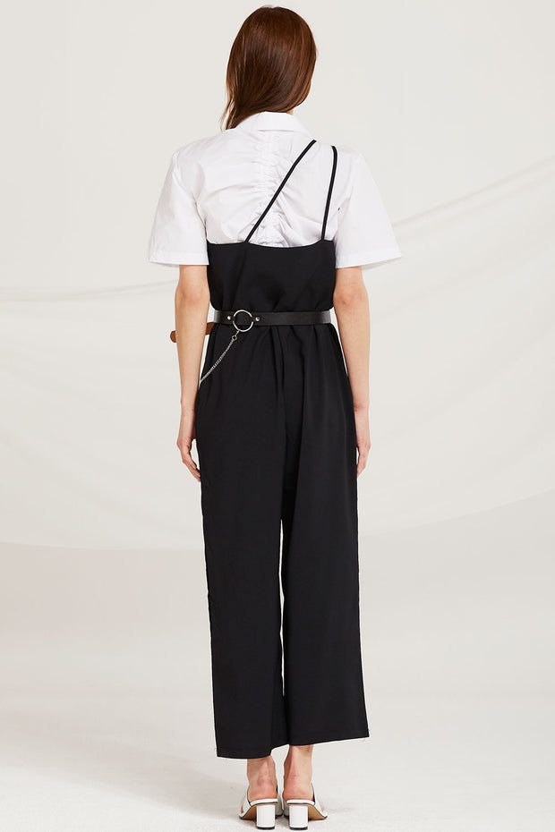 Lyra Asymmetric Shoulder Jumpsuit