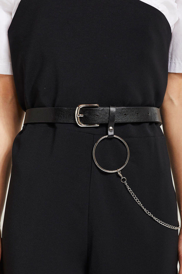 Pleather Chain Belt by STORETS
