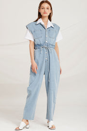 Ella Denim Jumpsuit by STORETS