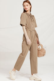 Laylah Drawstring Neck Jumpsuit