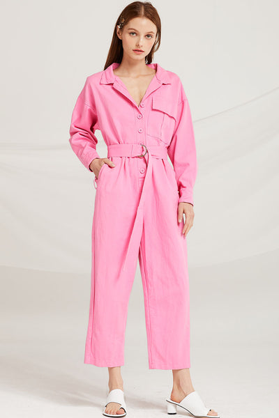 Rayna Utility Jumpsuit w/ Belt by STORETS