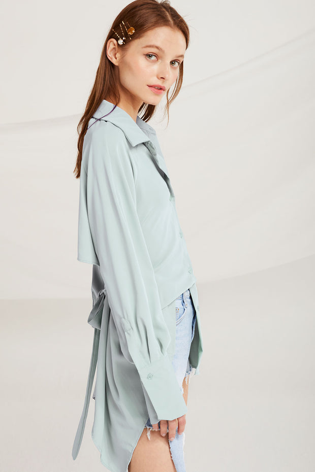 Evelyn Open Back Blouse