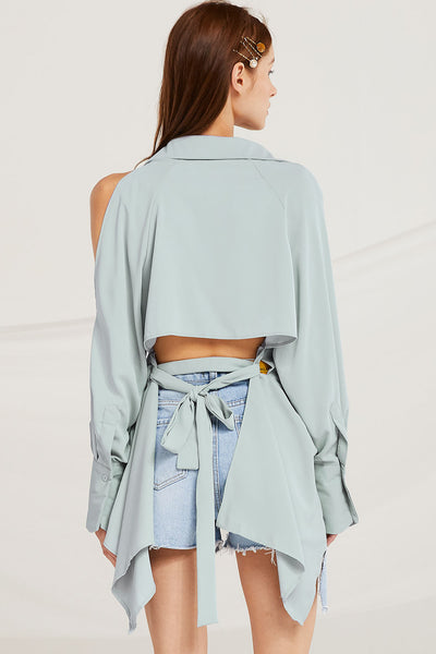 9625230cdfd41 Evelyn Open Back Blouse by STORETS