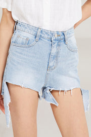 Andi Cut Off Denim Shorts by STORETS