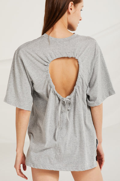 Romina Hole Back Top w/Drawstring Detail