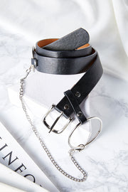 Pleather Chain Belt