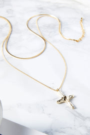 Coin & Cross Necklace Set