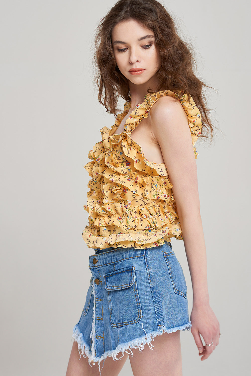 Hallie Frilled Bustier Blouse