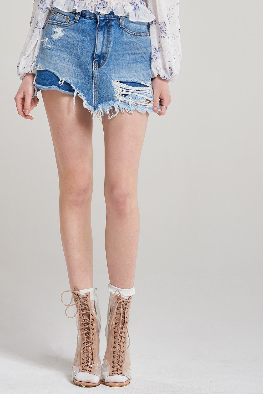 Walda Ripped Celeb Denim Shorts
