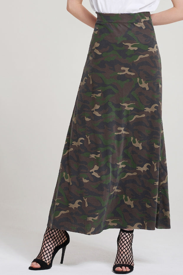 Armelle Camo Long Skirt