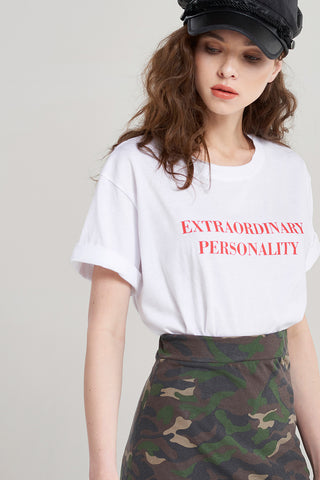 Elodie Text Basic T-shirt