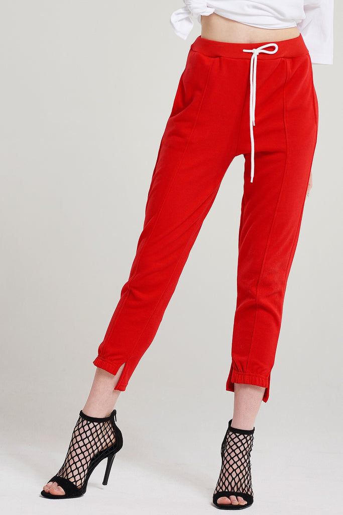 Connie Hem Slit Sweat Pants