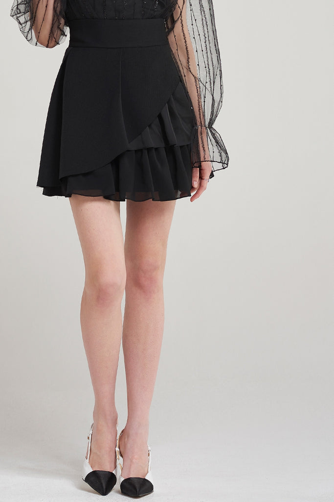 Phoenix Angle Frilled Cancan Skirt