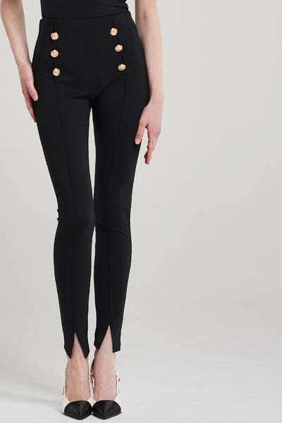 Sofie Gold Button Pants