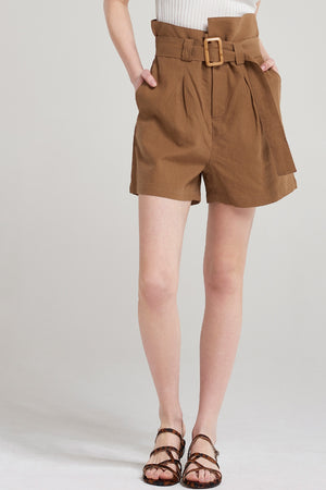 Athena Linen Belt Pants