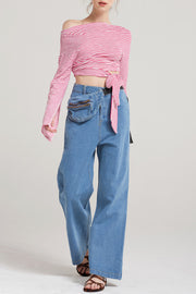 Kiana Colored Hipsack Pants