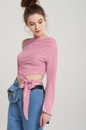 Thea Stripe Off Shoulder Top