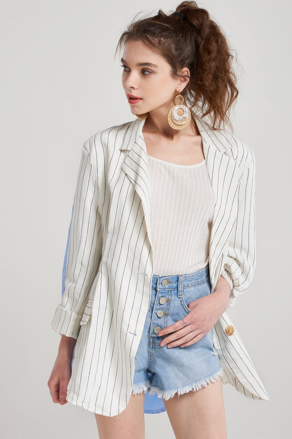 Renee Striped Blazer Jacket