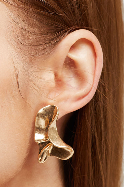 Brass Butterfly Wings Earrings