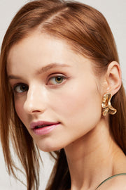 Brass Butterfly Wings Earrings by STORETS
