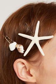 Sea Shell Bobby Pin Set by STORETS