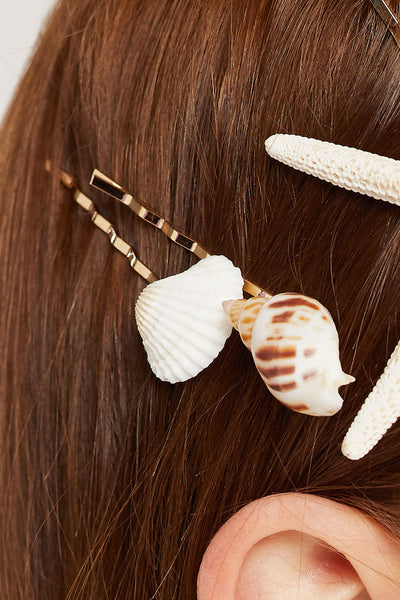 Sea Shell Bobby Pin Set