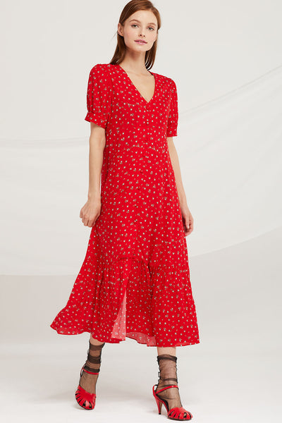Harper Floral Long Dress by STORETS