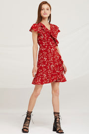 storets.com Abigail Floral Wrap Dress