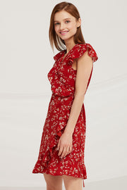 Abigail Floral Wrap Dress