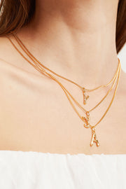 Hammered Initial Necklace by STORETS