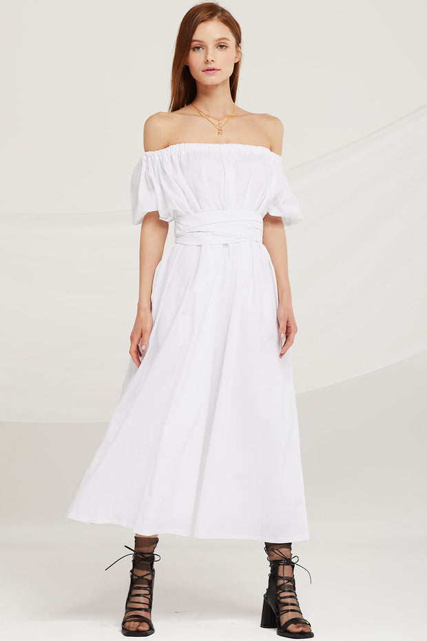 storets.com Lilian Off Shoulder Two-Way Maxi Dress